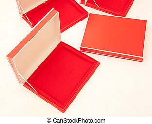 Blank Red Boxes