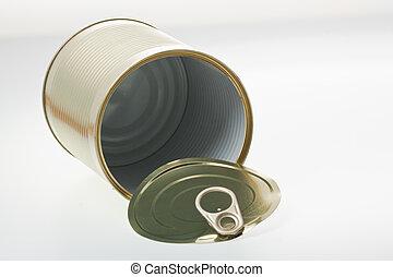 Tin - A single open tin.