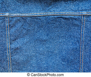 jeans with seam for backgorund - Piece of bluejeans with...