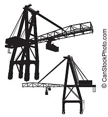 Gantry Crane Vector