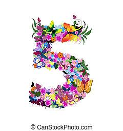 number 5 - number
