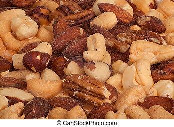 Mixed Nuts Closeup - This is a closeup of mixed nuts