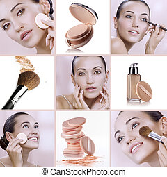 faces - Beauty theme collage composed of different images