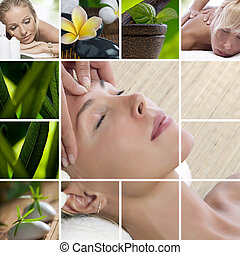 relaxing mix - Spa theme photo collage composed of different...