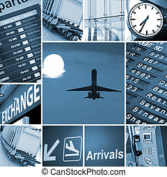 airport mix - Airport theme mix composed of different images