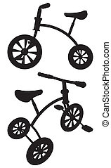 Children Tricycle Vector