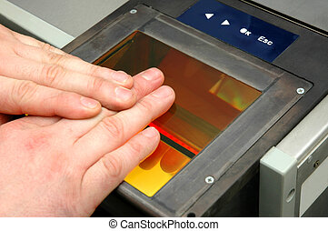 fingerprints are being taken