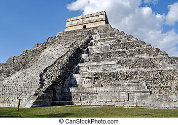 Chichen Itza Ancient Ruins in Mexico are a popular tourist...