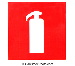 fuego, Extintor, señal