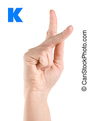 Letter K - Finger Spelling the Alphabet in American Sign...