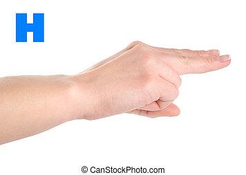 Letter H - Finger Spelling the Alphabet in American Sign...
