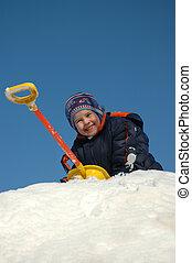 Child on snow