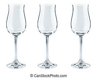 goblets - three modern goblets over the white background