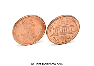 one cent from two sides