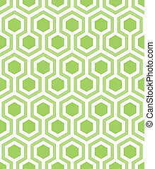 seamless hexagons in green - dark green hexagons outlined in...