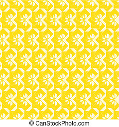 seamless yellow floral tags