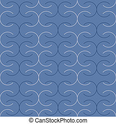 seamless dotted C in blue