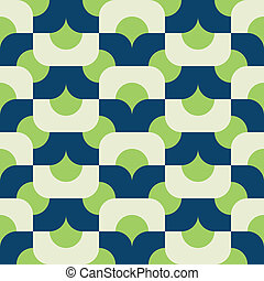 seamless mod in greens - mod vector pattern
