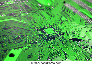 Computer circuit board - Technology motherboard closeup