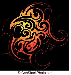 Fire flames - Vector illustration with fire flames...