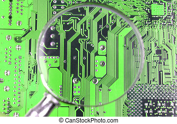 electronics - High quality Illustration of an abstract...