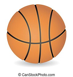 Basketball ball - Photo-realistic basketball ball isolated...