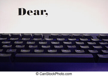Dear -written on screen
