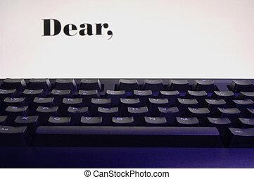 Dear -written on screen