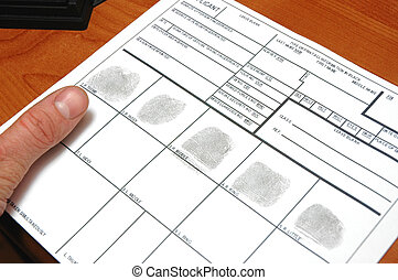 ID card - taking fingerprints on ID card