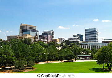 Columbia, SC Skyline - Late Summer - A view of the Columbia,...