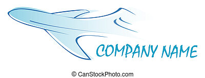 Airliner - logo - Flying airliner - company logo. Business...