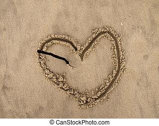 Broken Heart On The Beach