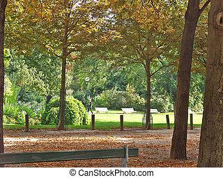 Champs-Elysees. Park. Paris. France - Champs-Elysees. Park....
