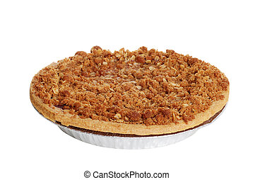 apple crumble pie - isolated apple crumble pie