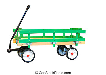 Childs Wagon - isolated green Childs Wagon