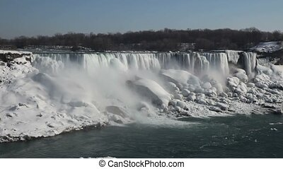 Niagara Falls During Winter Cold