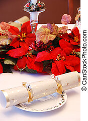 Christmas party cracker - closeup Christmas party cracker in...