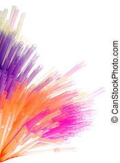 coloridos, palhas
