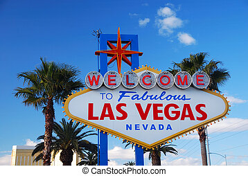 Las Vegas welcome sign on strip