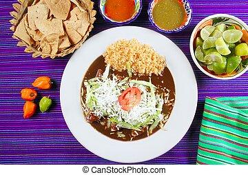lunar, Enchiladas, mexicano, alimento, chile, Salsas