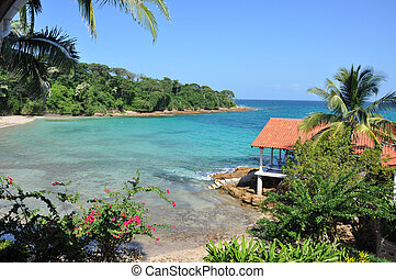 Pearl Island. - Foto of a beach, taken in Pearl Island,...