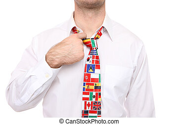 Man with Flag Tie