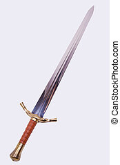 Medieval sword isolated on over white