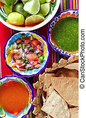 Mexican sauces pico de gallo habanero chili sauce Mexico...
