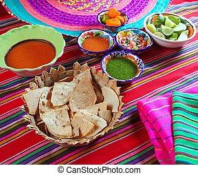 mexicano, Salsas, Pico, gallo, Habanero, chile, salsa