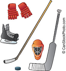 Hockey Gear - The most commonly used hockey gear.