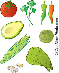 Mexican Food Ingredients - Ingredients commonly used in many...