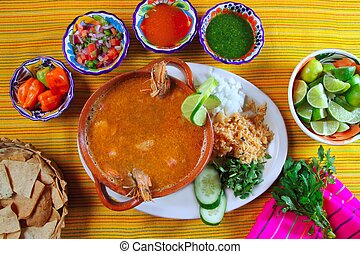 shrimp seafood soup mexican chili sauces nachos - shrimp...