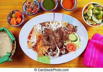 estilo, mexicano, carne de vaca, bisteck, asado parrilla,...