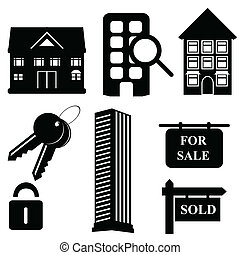 Real estate and housing icons - Real estate and housing...